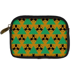 Triangles And Other Shapes Pattern        digital Camera Leather Case by LalyLauraFLM