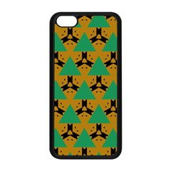 Triangles And Other Shapes Pattern        apple Iphone 5c Seamless Case (black) by LalyLauraFLM