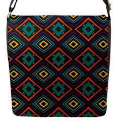Rhombus Pattern          flap Closure Messenger Bag (s) by LalyLauraFLM