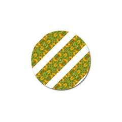 Indian Floral Pattern Stripes Golf Ball Marker by dflcprints