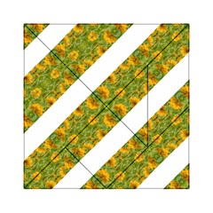 Indian Floral Pattern Stripes Acrylic Tangram Puzzle (6  X 6 ) by dflcprints
