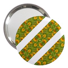 Indian Floral Pattern Stripes 3  Handbag Mirrors by dflcprints