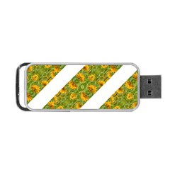 Indian Floral Pattern Stripes Portable Usb Flash (one Side) by dflcprints