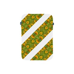 Indian Floral Pattern Stripes Apple Ipad Mini Protective Soft Cases by dflcprints