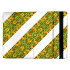 Indian Floral Pattern Stripes Samsung Galaxy Tab Pro 12 2  Flip Case by dflcprints