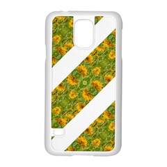Indian Floral Pattern Stripes Samsung Galaxy S5 Case (white) by dflcprints