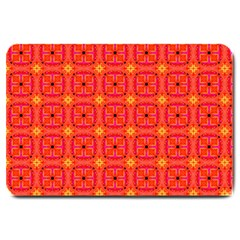 Peach Apricot Cinnamon Nutmeg Kitchen Modern Abstract Large Doormat  by DianeClancy