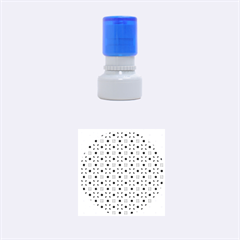 Vibrant Modern Abstract Lattice Aqua Blue Quilt Rubber Round Stamps (small) by DianeClancy
