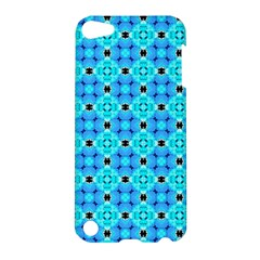 Vibrant Modern Abstract Lattice Aqua Blue Quilt Apple Ipod Touch 5 Hardshell Case by DianeClancy
