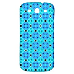 Vibrant Modern Abstract Lattice Aqua Blue Quilt Samsung Galaxy S3 S Iii Classic Hardshell Back Case by DianeClancy