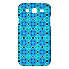Vibrant Modern Abstract Lattice Aqua Blue Quilt Samsung Galaxy Mega 5 8 I9152 Hardshell Case  by DianeClancy