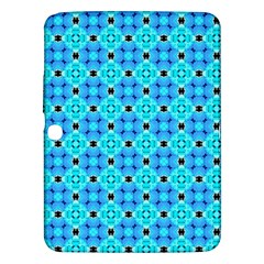 Vibrant Modern Abstract Lattice Aqua Blue Quilt Samsung Galaxy Tab 3 (10 1 ) P5200 Hardshell Case  by DianeClancy