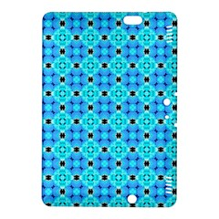 Vibrant Modern Abstract Lattice Aqua Blue Quilt Kindle Fire Hdx 8 9  Hardshell Case by DianeClancy