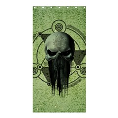 Awesome Green Skull Shower Curtain 36  X 72  (stall)  by FantasyWorld7