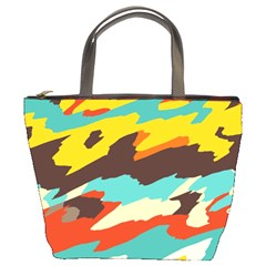 Wavy Retro  Texture           bucket Bag by LalyLauraFLM