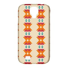 Triangles Tribal Pattern              samsung Galaxy S4 Classic Hardshell Case (pc+silicone) by LalyLauraFLM
