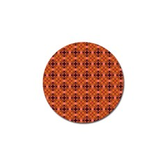 Peach Purple Abstract Moroccan Lattice Quilt Golf Ball Marker (4 Pack) by DianeClancy