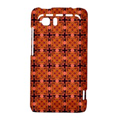 Peach Purple Abstract Moroccan Lattice Quilt HTC Vivid / Raider 4G Hardshell Case  by DianeClancy