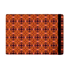 Peach Purple Abstract Moroccan Lattice Quilt Apple Ipad Mini Flip Case by DianeClancy