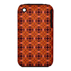 Peach Purple Abstract Moroccan Lattice Quilt Apple Iphone 3g/3gs Hardshell Case (pc+silicone) by DianeClancy