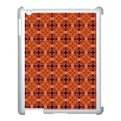 Peach Purple Abstract Moroccan Lattice Quilt Apple Ipad 3/4 Case (white) by DianeClancy