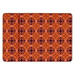 Peach Purple Abstract Moroccan Lattice Quilt Samsung Galaxy Tab 8 9  P7300 Flip Case by DianeClancy