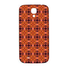 Peach Purple Abstract Moroccan Lattice Quilt Samsung Galaxy S4 I9500/i9505  Hardshell Back Case by DianeClancy