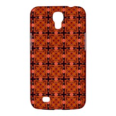 Peach Purple Abstract Moroccan Lattice Quilt Samsung Galaxy Mega 6 3  I9200 Hardshell Case by DianeClancy