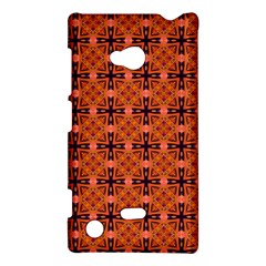 Peach Purple Abstract Moroccan Lattice Quilt Nokia Lumia 720 by DianeClancy