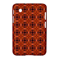 Peach Purple Abstract Moroccan Lattice Quilt Samsung Galaxy Tab 2 (7 ) P3100 Hardshell Case  by DianeClancy