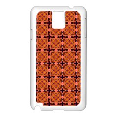 Peach Purple Abstract Moroccan Lattice Quilt Samsung Galaxy Note 3 N9005 Case (white) by DianeClancy