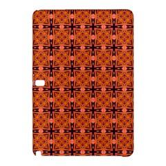 Peach Purple Abstract Moroccan Lattice Quilt Samsung Galaxy Tab Pro 12 2 Hardshell Case