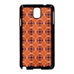 Peach Purple Abstract Moroccan Lattice Quilt Samsung Galaxy Note 3 Neo Hardshell Case (black) by DianeClancy