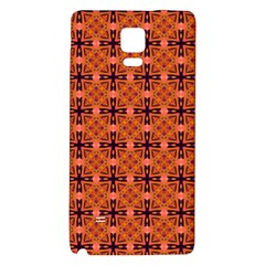 Peach Purple Abstract Moroccan Lattice Quilt Galaxy Note 4 Back Case by DianeClancy