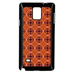 Peach Purple Abstract Moroccan Lattice Quilt Samsung Galaxy Note 4 Case (black) by DianeClancy