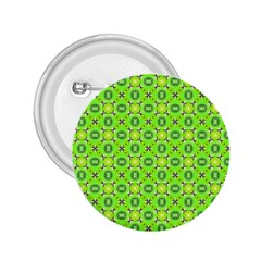 Vibrant Abstract Tropical Lime Foliage Lattice 2 25  Buttons by DianeClancy
