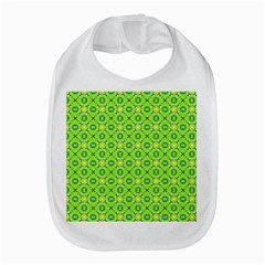 Vibrant Abstract Tropical Lime Foliage Lattice Bib by DianeClancy