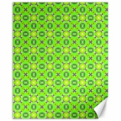 Vibrant Abstract Tropical Lime Foliage Lattice Canvas 16  X 20   by DianeClancy