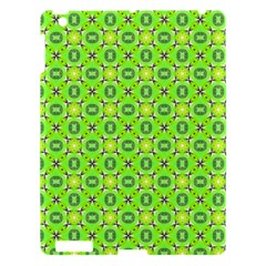 Vibrant Abstract Tropical Lime Foliage Lattice Apple Ipad 3/4 Hardshell Case by DianeClancy