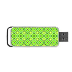 Vibrant Abstract Tropical Lime Foliage Lattice Portable Usb Flash (one Side) by DianeClancy