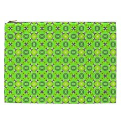 Vibrant Abstract Tropical Lime Foliage Lattice Cosmetic Bag (xxl)  by DianeClancy