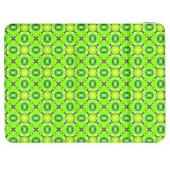 Vibrant Abstract Tropical Lime Foliage Lattice Samsung Galaxy Tab 7  P1000 Flip Case by DianeClancy