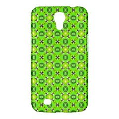 Vibrant Abstract Tropical Lime Foliage Lattice Samsung Galaxy Mega 6 3  I9200 Hardshell Case by DianeClancy