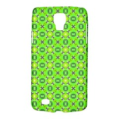 Vibrant Abstract Tropical Lime Foliage Lattice Galaxy S4 Active by DianeClancy