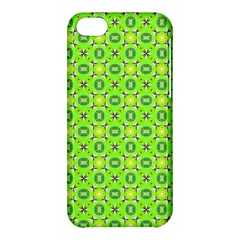 Vibrant Abstract Tropical Lime Foliage Lattice Apple Iphone 5c Hardshell Case by DianeClancy