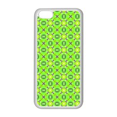 Vibrant Abstract Tropical Lime Foliage Lattice Apple Iphone 5c Seamless Case (white) by DianeClancy