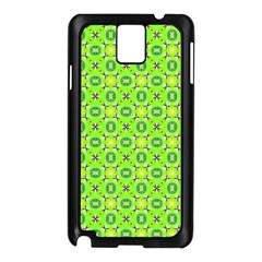 Vibrant Abstract Tropical Lime Foliage Lattice Samsung Galaxy Note 3 N9005 Case (black) by DianeClancy