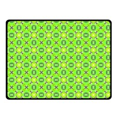 Vibrant Abstract Tropical Lime Foliage Lattice Double Sided Fleece Blanket (small)  by DianeClancy