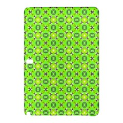 Vibrant Abstract Tropical Lime Foliage Lattice Samsung Galaxy Tab Pro 12 2 Hardshell Case by DianeClancy