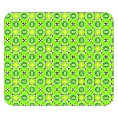 Vibrant Abstract Tropical Lime Foliage Lattice Double Sided Flano Blanket (small)  by DianeClancy